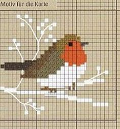 Christmas Robin cross stitch pattern by Lesley Teare Designs.-Christmas Robin cross stitch pattern by Lesley Teare Designs Christmas Robin cross stitch pattern by Lesley Teare Designs Punto croce - Xmas Cross Stitch, Cross Stitch Cards, Cross Stitch Borders, Cross Stitch Animals, Cross Stitch Kits, Cross Stitch Designs, Cross Stitching, Cross Stitch Embroidery, Embroidery Patterns
