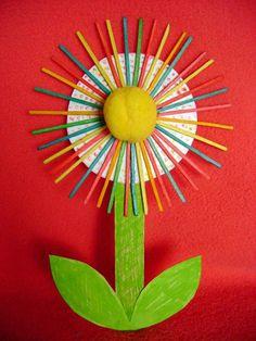 Kytka z párátek   Předškoláci.cz - omalovánky, pracovní listy Activities For Kids, Crafts For Kids, Projects To Try, Jar, Spring, Design, Toddler Arts And Crafts, Decorated Notebooks, Flowers