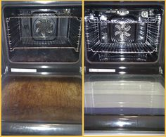 CLEANING YOUR OVEN - The easiest way EVER! Begin by preheating the oven to 150 degrees (or your lowest setting available). While the oven is heating, put on a pot of water to boil. Once the oven ha.