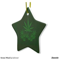 Green Weed Ceramic O