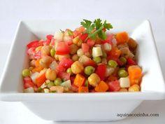 Veggie Recipes, Salad Recipes, Healthy Tips, Healthy Recipes, Bowls, Portuguese Recipes, Superfood, My Favorite Food, Carne