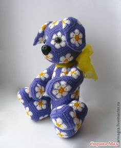 PUPPY African motifs  #crochetpattern #amigurumi