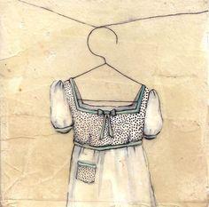 "Liz Tran ""Millie"" Acrylic, Ink, Graphite, Beeswax and Japanese Paper 2008 Illustrations, Illustration Art, Sweet Dress, Art Journal Inspiration, Vintage Roses, Art Pictures, Amazing Art, Fashion Art, Art For Kids"