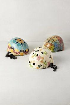 hand painted bike helmet -- totally a DIY