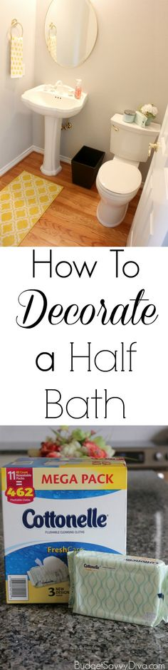 How To Decorate A Half Bath  #CleanRippleStyle #ad