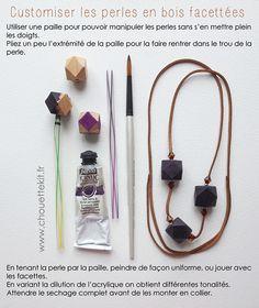 Petite Custo des perles en bois à facettes Diy Tutorial, Actus, Jewelry, Necklaces, Crochet, Inspiration, Veneers Teeth, Accessories, Beads