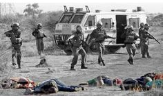 """News cameras captured horrific images of riot police gunning down dozens of striking workers at a South African platinum mine yesterday, in a """"bloodbath"""" that recalls some of the worst of that country's apartheid-era protests News South Africa, New Africa, Murcia, End Of Apartheid, Platinum Mining, North West Province, Open Fires, African History, Photojournalism"""