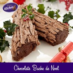 I love chocolate in every shape! This traditional treat is rolled, filled and served at Christmas! Recipe at link.