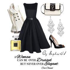 """Retro Elegance- Black & White"" by sophie-01 on Polyvore"