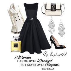 """Retro Elegance- Black & White"" by sophie-01 on Polyvore"