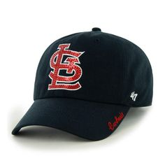 sale retailer 83b91 1b2ab St. Louis Cardinals Women s 47 Brand Sparkle Navy Clean Up Adjustable Hat