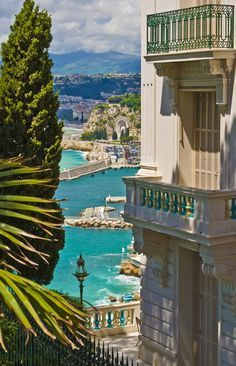 Views of Nice on the French Riviera will leave you speechless ~ and, fumbling for your camera. Inspiration   French Riviera   Sun   Sea   Sand