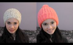 Super Easy Ribbed Crocheted Hat/Beanie