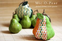 Mic-O-Pear Metal Frame Coin Purse - I'm not going to make a pear I just like the shape.