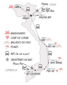 carte-vietnam-itineraires