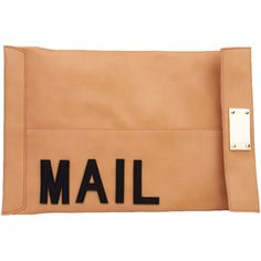 AKIRA You've Got Mail Clutch in Beige