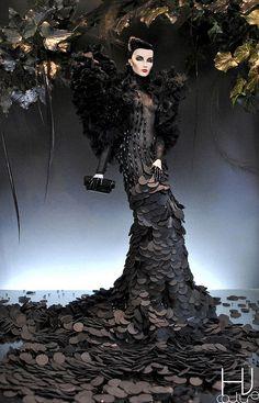 Huckleberry Jackson goth couture dress.