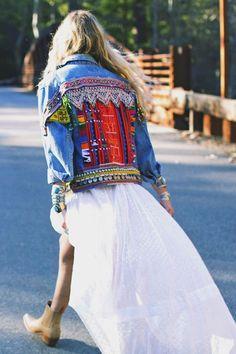 Custom Embellished Jacket Reservation by wildandfreejewelry | Girlfriend is Better