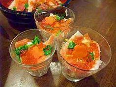 """SUSHI in cup"" - japanese recipe/ひなまつりにカップ寿司♪/ちらし寿司、パーティ料理"