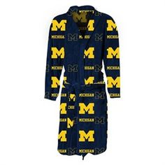 Michigan Wolverines Men's Lightweight Fleece Robe
