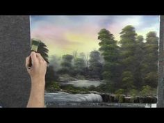 Waterfall in the Trees oil painting by Kevin Hill