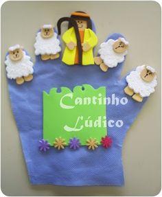 Luva de história - A ovelha perdida.  http://cantinholudicodagre.blogspot.com.br/2011/01/luva-de-historia-do-bom-pastor.html