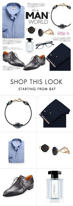 """""""Tahitian Pearl for Men!"""" by littlehjewelry ❤ liked on Polyvore featuring MANGO, Corthay, L'Artisan Parfumeur, men's fashion and menswear"""
