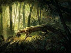 Felidae: the jaguarundi (Herpailurus yaguarondi) by BlackMysticA.deviantart.com on @DeviantArt