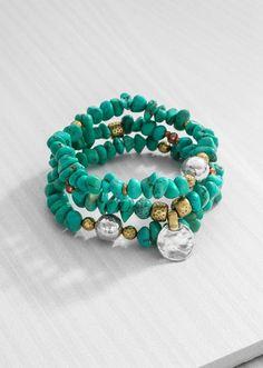 SILPADA  Bright Blue Stretch Bracelets