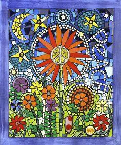 Cheerful beautiful mosaic by kathleen