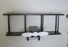 Chocolate Brown BiPlane Wall Shelf by Midwestclassiccrafts on Etsy, $119.00