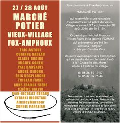 Marché potier de Fox-Amphoux (Var), les 27 et 28 août 2016 - céramique et poterie, exposition galerie Format