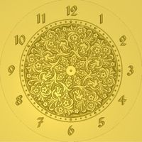 Wall clock 3d model relief for cnc in STL file format Picture #1