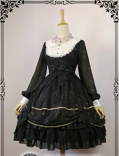 Fanzy Fantasy -Magic Starry Sky- Long Sleeves Lolita OP Dress Old Version
