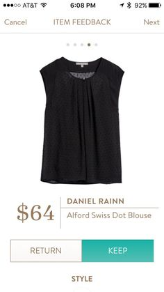 Daniel Rainn Alford Swiss Dot Blouse Yassssss! Perfect for work and I adore adorable Swiss dots