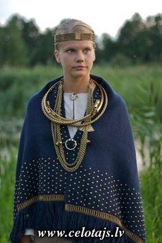 "Seno rotu kalve. Ancient Latvian.I see ""viking-likenesses""in the metal work 'bling'"