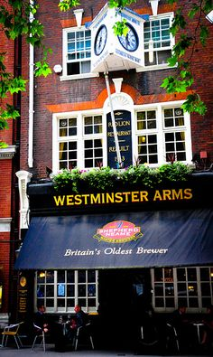 This is  cool place to go.. Been there ,.. OH, the dark beer.   Westminster Arms Pub in London England