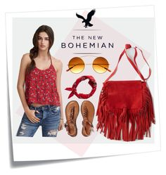 """""""The New Bohemian with American Eagle Outfitters: Contest Entry"""" by rafimali ❤ liked on Polyvore"""