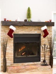 How To Attach A Mantel To A Wood Fireplace In A Brick Wall