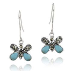 Sterling Silver Marcasite & Created Turquoise Butterfly Earrings SilverSpeck,http://www.amazon.com/dp/B005KC8XFM/ref=cm_sw_r_pi_dp_jqxArb4A84A14BA0