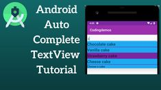 Today you will learn how to use Android AutoCompleteTextview that shows completion suggestions automatically while the user is typing. The list of suggestions is displayed in a drop down list from which the user can choose an item to replace the content of the edit box.   You will also learn how to create a custom Android AutoComplete by changing the text size, text style, and add a line that separates the items. Android Tutorials, Drop Down List, Android Auto, Text Style, Cake Tutorial, Separates, Being Used, Texts, Improve Yourself