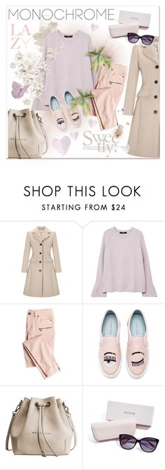 """""""monochrome rose"""" by stecknaddel ❤ liked on Polyvore featuring Somerset by Alice Temperley, Lazy Days, MANGO, Victoria's Secret, Chiara Ferragni and GUESS"""