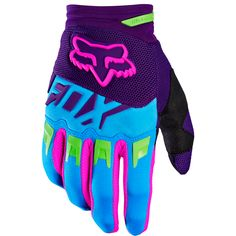 Fox Racing 2016 Dirtpaw Vicious SE Gloves Blue available at Motocross Giant Cool Dirt Bikes, Dirt Bike Gear, Motocross Gear, Dirt Biking, Motocross Gloves, Dirt Scooter, Atv Gear, Camping Gear, Bike Style