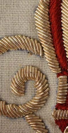 Tanja Berlin design?goldwork on Pinterest | Gold Embroidery, Embroidery and Needlework