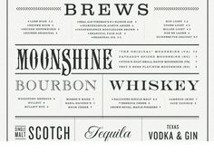 Moonshine menu by Make & Matter #design #typography #austin