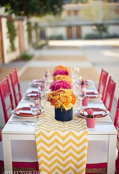 12 Best Yellow Table Settings Images Yellow Table Table
