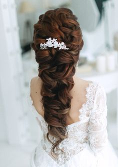 Beautiful wedding hairstyle #weddinghair #hairstyles #weddinghair #hairstyle #elegant
