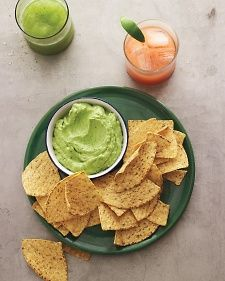 Creamy Avocado Dip - almost Guacamole, but super easy by dumping a few ingredients into a food processor.  I would replace all or part of the sour cream with greek yogurt.  jt