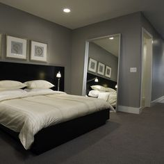 Grey Black And White Bedroom Ideas Home In Sand And Grey Via