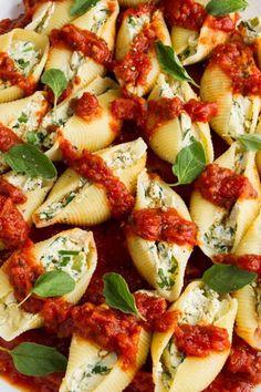 Vegan Jumbo Stuffed Shells  http://recipesjust4u.com/vegan-jumbo-stuffed-shells/  Make with GF pasta